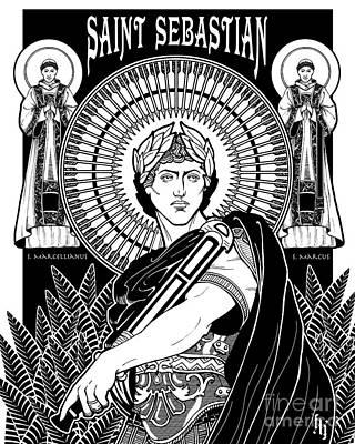 Saint Sebastian Poster by Lawrence Klimecki