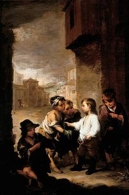Saint Thomas Of Villanueva Dividing His Clothes Among Beggar Boys, C.1667 Oil On Canvas Poster by Bartolome Esteban Murillo