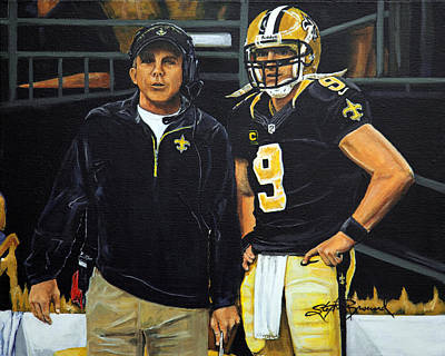 Saints Dynamic Duo Poster by Stephen Broussard