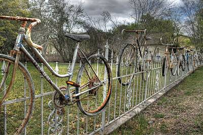 Salado Texas Bike Fence Poster