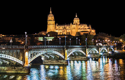 Salamanca At Night Poster