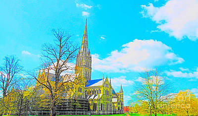 Salisbury Cathedral Poster by Andrew Middleton