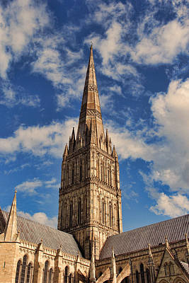 Poster featuring the photograph Salisbury Cathedral by Oscar Alvarez Jr