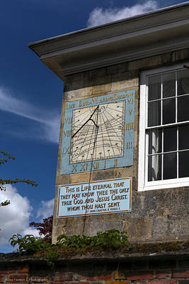 Poster featuring the photograph Salisbury Sundial by Ross Henton