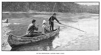 Salmon Fishing, 1890 Poster by Granger