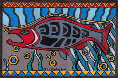 Salmon Poster by Molly Williams