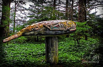 Salmon Totem Pole Poster