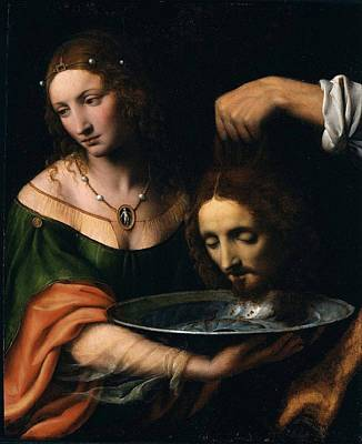 Salome With The Head Of John The Baptist Poster by Celestial Images