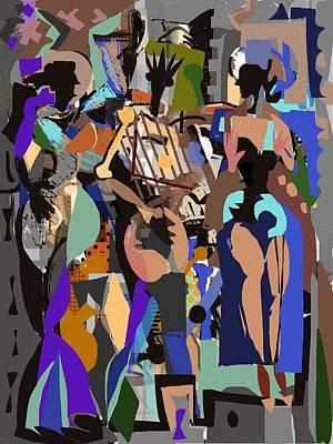 Poster featuring the digital art Salsa Caliente by Clyde Semler