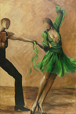 Poster featuring the painting Salsa by Sheri  Chakamian