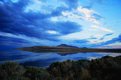 Poster featuring the photograph Salt Lake Antelope Island by Matt Harang