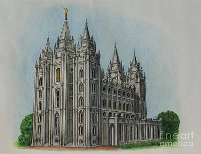 Salt Lake City Temple I Poster