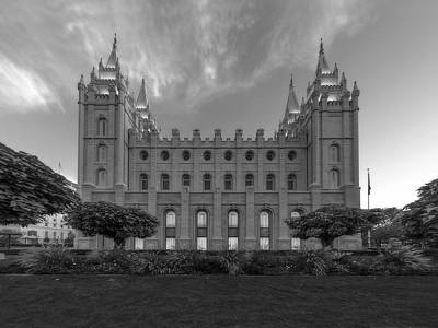 Salt Lake City Temple Profile Poster