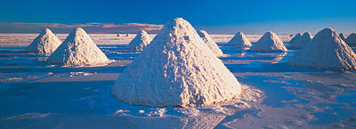 Salt Pyramids On Salt Flat, Salar De Poster by Panoramic Images