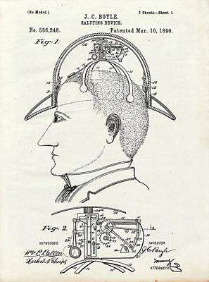 Saluting Hat Patent Poster by Us Patent And Trademark Office