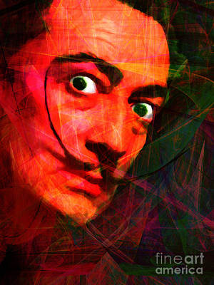Salvador Dali 20141213 V2 Poster by Wingsdomain Art and Photography