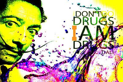 Salvador Dali Pop Art Poster