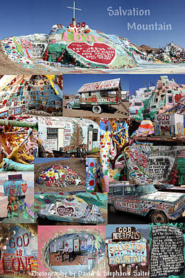 Salvation Mountain Poster by David Salter