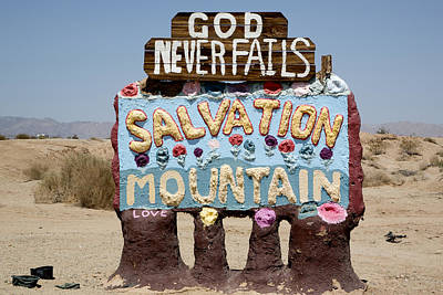 Salvation Mountain In Callpatria Poster by Carol M Highsmith