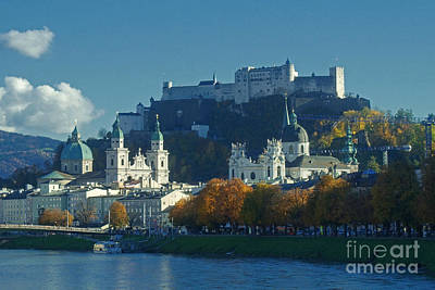 Poster featuring the photograph Salzburg Austria In Fall by Rudi Prott