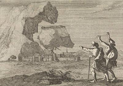 Salzburg, Austria, Is Destroyed By A Crumbling Mountain Poster by Caspar Luyken And Pieter Van Der Aa I