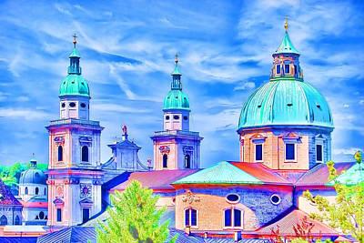 Salzburg Austria Poster by Sabine Jacobs