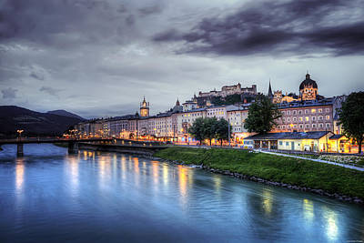 Salzburg Sunset Poster by Ryan Wyckoff