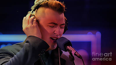 Sam Smith Art Poster by Marvin Blaine