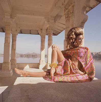 Samantha Jones Wearing A Bare-midriff Print Poster