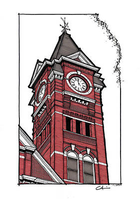 Samford Hall Clock Tower Poster