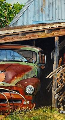 Sams Truck Poster by Robert W Cook