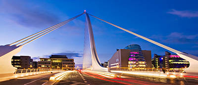 Poster featuring the photograph Samuel Beckett Bridge And National Conference Centre / Dublin by Barry O Carroll
