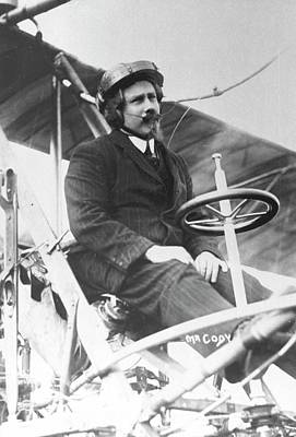 Samuel Franklin Cody In His Biplane Poster