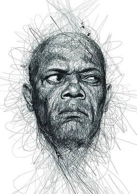 Samuel L Jackson  Poster by Vince Low