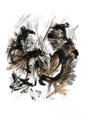 Samurai Fight. Poster by Mariusz Szmerdt