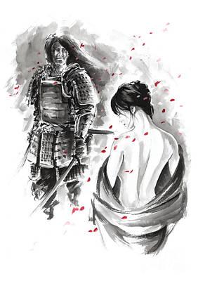 Samurai. Poster by Mariusz Szmerdt