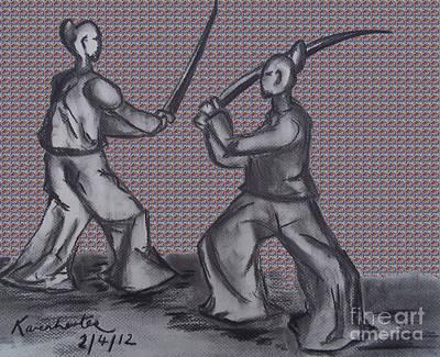 Samurai Warriors Tartan Poster