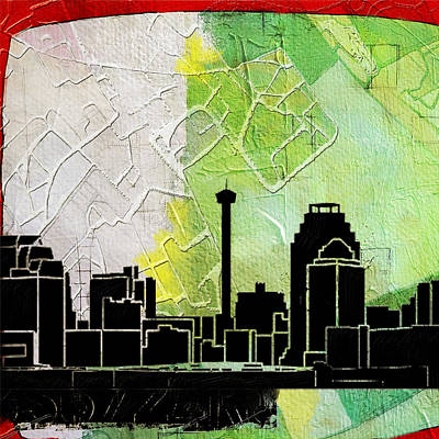 San Antonio 002 B Poster by Corporate Art Task Force