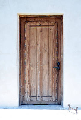 San Antonio Missions National Historical Park Mission San Juan San Antonio Wooden Door Poster by Shawn O'Brien