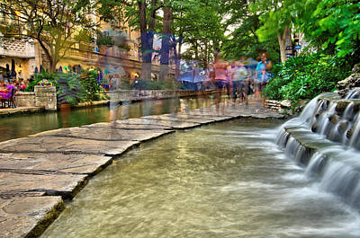 San Antonio Riverwalk Slomo Poster