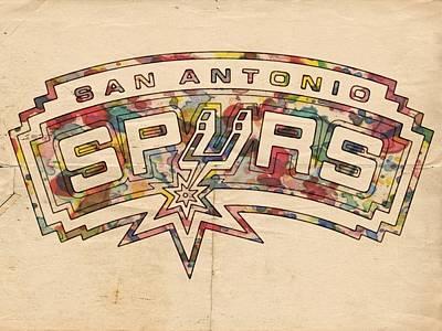 San Antonio Spurs Poster Art Poster by Florian Rodarte