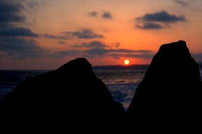 Poster featuring the photograph San Clemente Rocks Sunset by Matt Harang
