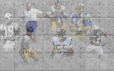 San Diego Chargers Legends Poster by Joe Hamilton
