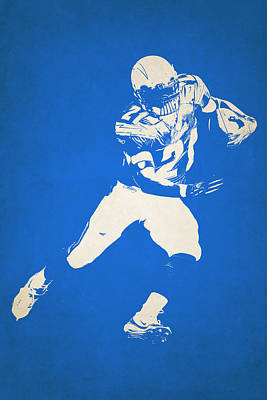 San Diego Chargers Shadow Player Poster