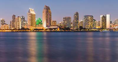 San Diego From Coronado Island - City Skyline Photograph Poster
