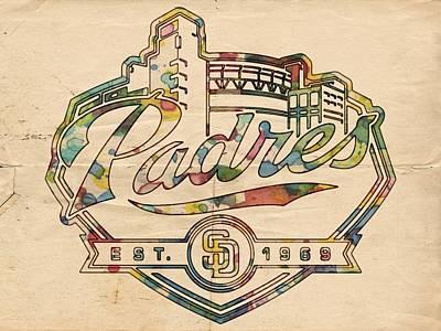 San Diego Padres Memorabilia Poster by Florian Rodarte