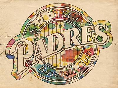 San Diego Padres Poster Art Poster by Florian Rodarte