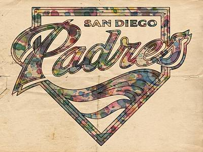 San Diego Padres Poster Vintage Poster by Florian Rodarte