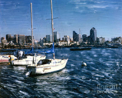 San Diego Sailboats Poster