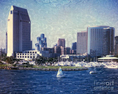 San Diego Sailing Poster